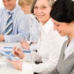 Business team meeting executive senior woman — Stock Photo #9036752