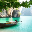 Long boat on island in Thailand — Stock Photo #6142672