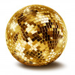 Golden disco mirror ballall — Stock Photo #11010955