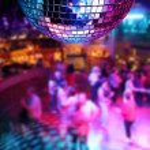 Dancing under disco mirror ball — Stock Photo #9324533