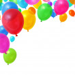 Party balloons flying — Stock Photo #9352351