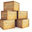 Several wooden crates — Stock Photo #5573049