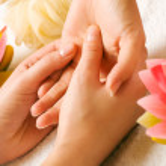 Woman getting a hand massage — Stock Photo #5056956