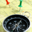 Map and compass — Stock Photo #8737169