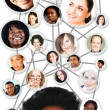 African woman social network diagram — Stock Photo #5289044