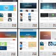 6 Website Page Template Layout - Web Design — Stock Photo #22062811