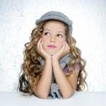 Winter cap wool scarf little fashion girl portrait — Stock Photo #5512641