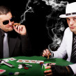 Two gangsters playing some cards — Stock Photo #6044071