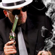 Black suit gangster — Stock Photo #6044117