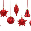 Red Christmas ornaments — Stock Photo #5525379