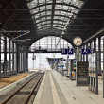 Railway station in Wiesbaden — Stock Photo #9390613