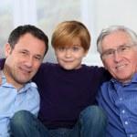 Three-generation family portrait — Stock Photo #6698562