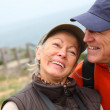 Portrait of senior couple on hiking day — Stock Photo #6700109