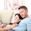 Happy couple at home — Stock Photo #6703557