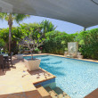 Backyard with swimming pool — Stock Photo #11636559