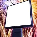 Fireworks billboard — Stock Photo #5874447