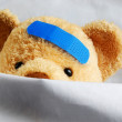 Teddy in Bed — Stock Photo #5874934