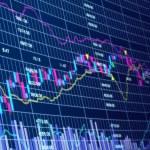 3d blue stock chart — Stock Photo #6220019