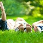 Children having picnic — Stock Photo #9152187