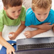 Two boys in the heat of a computer game — Stock Photo #7113509