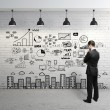 Business concept on wall — Stock Photo #16217913