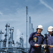Oil workers and refinery industry — Stock Photo #6410198