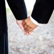 Gay Marriage - Holding Hands Closeup — Stock Photo #10545732