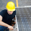 Solar Energy - Electrician Working — Stock Photo #6516804