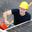Electrician Installs Solar Panel — Stock Photo #6516823