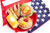 Healthy Fourth of July Picnic — 图库照片