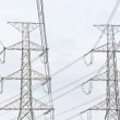 Electricity, twin High voltage power pole — Stock Photo #6658318