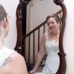 Bride In the Mirror — Stock Photo #8375067