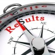 Results compass conceptual image — Stock Photo #13250692