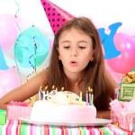 Little beautiful girl celebrate her birthday — Stock Photo #12713908