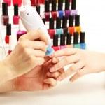 Manicure process in beauty salon, close up — Stock Photo #22797526