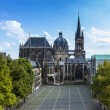 Aachen Cathedral Aachen, Aix-la-chapelle aken imperial imperial cathedral church gothic monument pos — Stock Photo #25321825