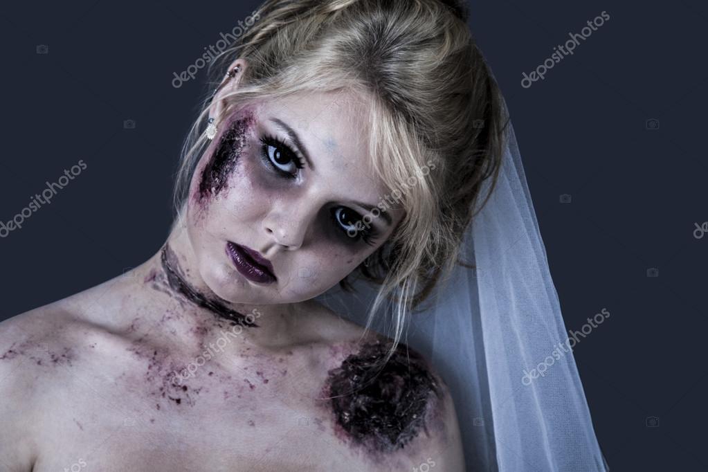 Halloween Deko Anhnger Braut-Leiche mit Licht
