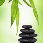 Zen basalt stones and bamboo — Stock Photo #7655877