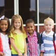 Portrait of Young Kids first day of School — Stock Photo #40431833