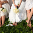 Bride and bridesmaids legs — Stock Photo #11108980
