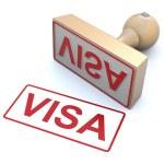 Rubber stamp - Visa — Stock Photo #9387385