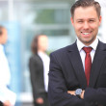 Happy smart business man — Stock Photo #12185281