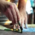 Cutting glass — Stock Photo #11439542