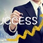 Бизнесмен письменной успех — Стоковое фото #18855957