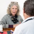 Worried Woman Talking with Her Doctor — Stock Photo #16162195