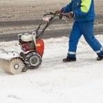 Snow blower — Stock Photo #8555612