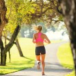 Woman running in the park — Stock Photo #40878601