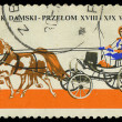 POLAND - CIRCA 1965: a stamp printed in Poland showing horses drawing carriage, circa 1965 — Stock Photo #21185769
