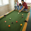 Family Playing Pool — Stock Photo #9498252