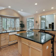 Kitchen with marble top island — Stock Photo #8669408